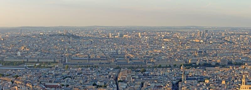 Panorama Paryż obrazy royalty free