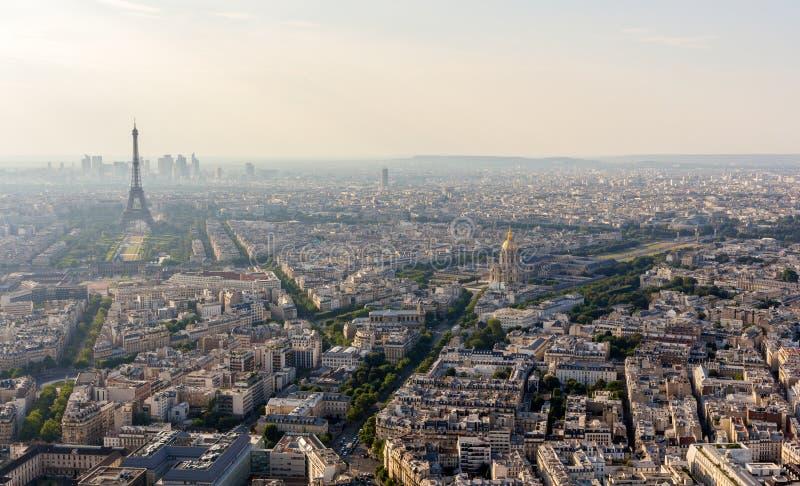 Panorama Paryż od Maine wierza obraz stock