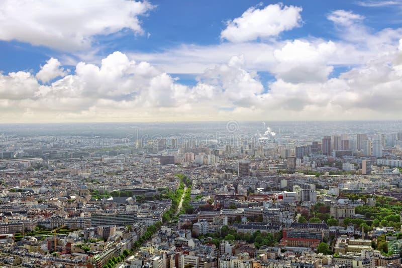 Panorama Paryż od Montparnasse wierza. Francja. zdjęcia stock