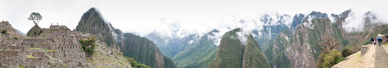 Panorama patrimoine mondial de l'UNESCO de Pérou, Amérique du Sud de Machu Picchu images stock