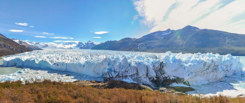 Panorama, Perito Moreno Glacier, la Argentina imágenes de archivo libres de regalías