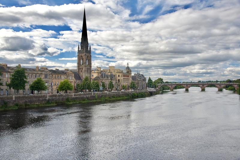 Panorama of Perth city stock photography