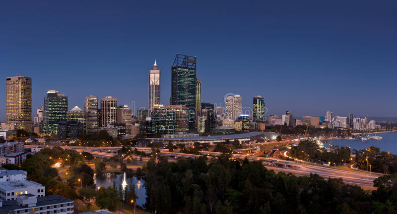 Perth at sunset royalty free stock images