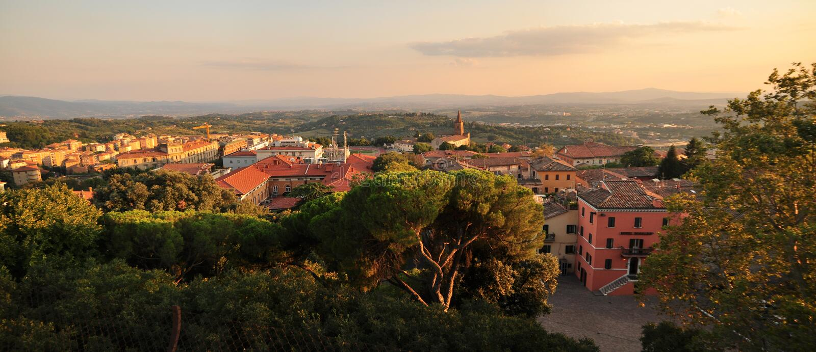 Download Panorama In Perugia - Italy Landscape Stock Image - Image: 16653209
