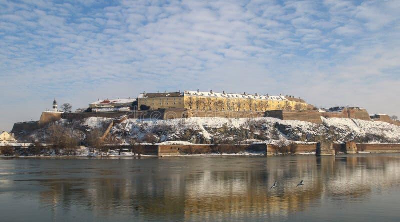 Panorama of Petrovaradin fortress in Novi Sad, Serbia. Winter panorama of Petrovaradin fortress in Novi Sad, Serbia royalty free stock image