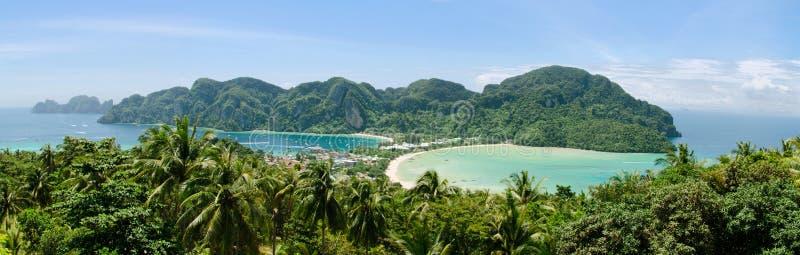 Panorama Phi Phi Island, Tailandia fotos de archivo
