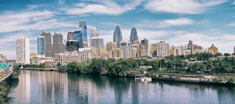 Panorama of Philadelphia. City skyline in Philadelphia. PA royalty free stock photography