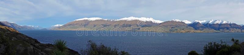 Lake Hawea panorama, New Zealand stock photography