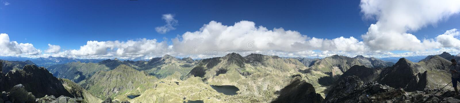 Panorama Photo of Mountains stock images