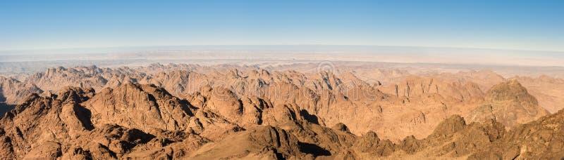 Panorama piaska pustynia Synaj, Egipt, Afryka obrazy stock