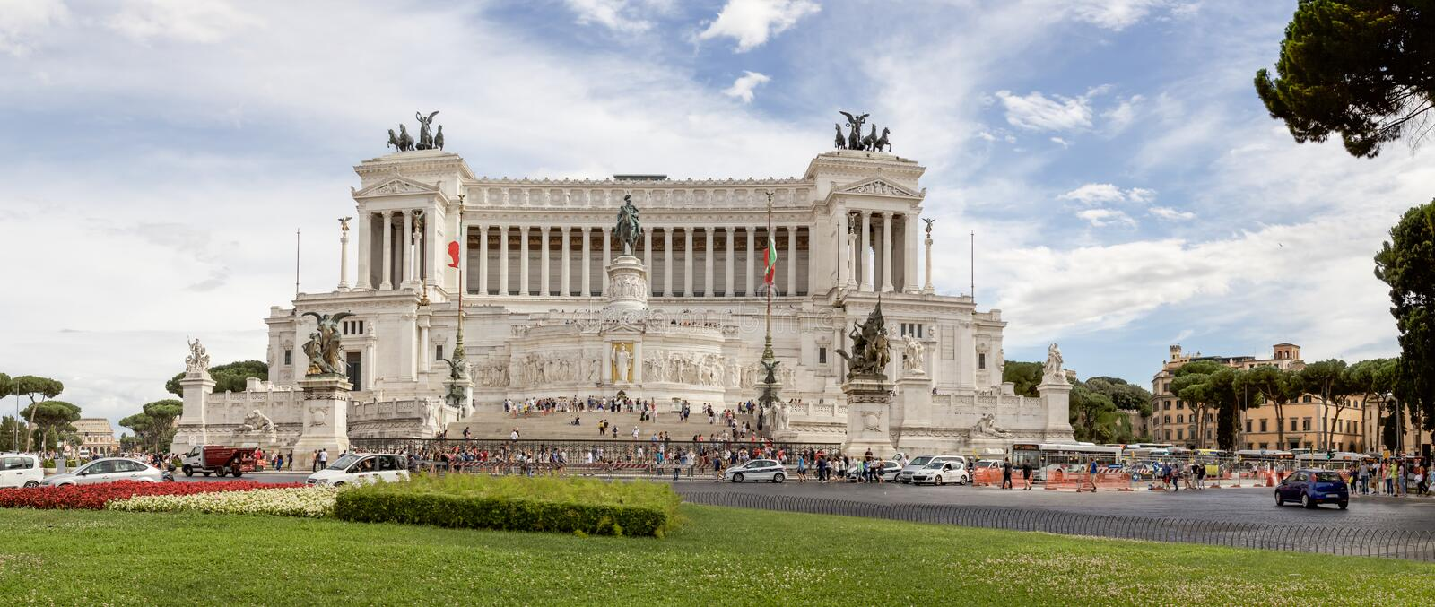 Download Panorama Of Piazza Venezia In Rome Editorial Stock Photo - Image: 83700548