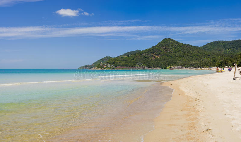 Panorama pic - koh samui in thailand. Panorama pic - southern part of chaweng beach in koh samui, thailand stock images