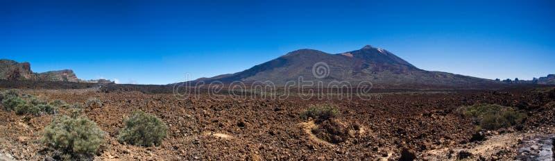 Panorama pico teide del zdjęcia stock