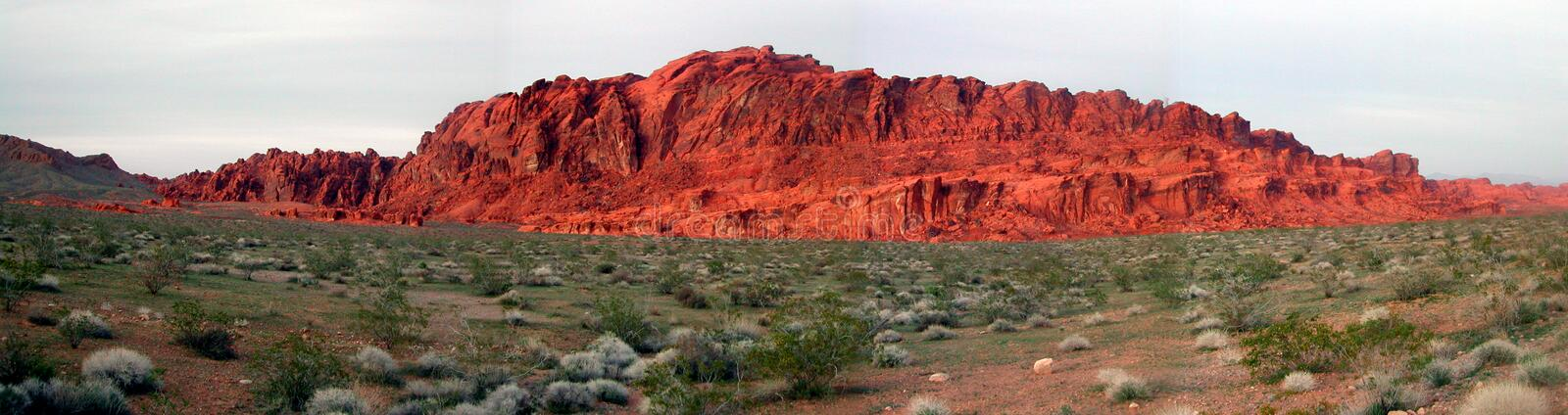 Panorama picture. Of the valley of fire stock images