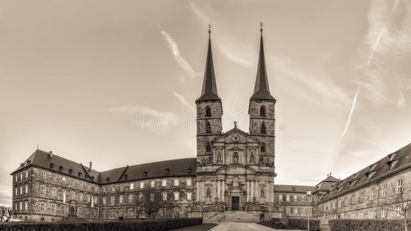 Panorama Picture of the Michaelsberg in Bamberg / Bavaria stock photo
