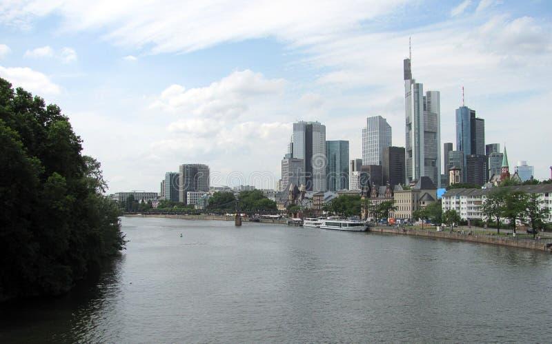 Panorama pieniężny okręg w Frankfurt magistrala, Niemcy - Am - zdjęcie royalty free