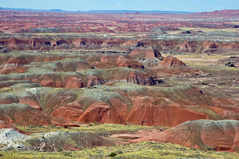 Panorama pintado do deserto imagens de stock royalty free