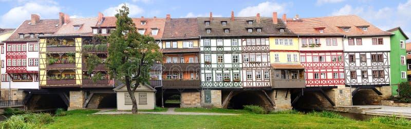 El puente de los comerciantes. Erfurt foto de archivo