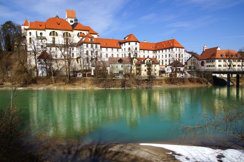 Panorama pittoresque de Fussen. l'Allemagne photographie stock