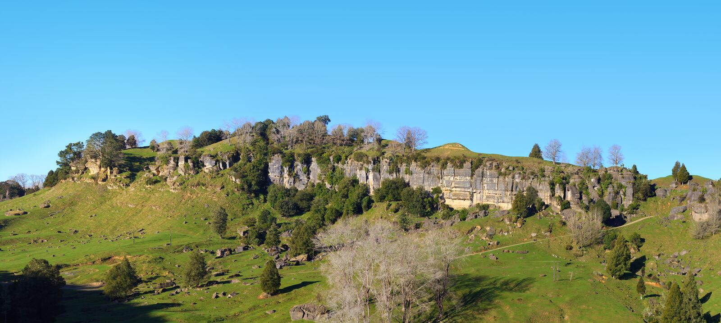 Panorama pittoresque de paysage de collines vertes photo stock