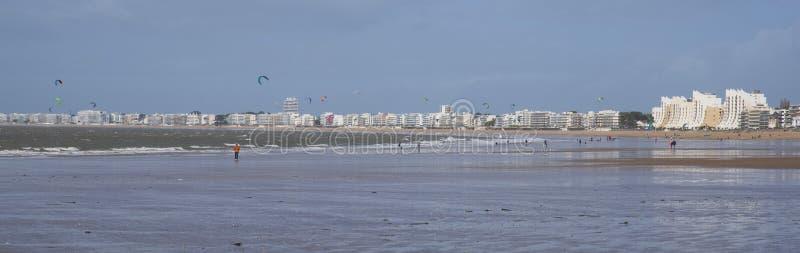 Panorama plaża La Baule zdjęcie stock