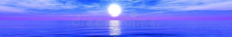 panorama plażowa tropikalna Zmierzch przy morzem zdjęcie royalty free