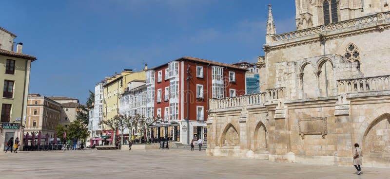 Panorama plac Santa Maria w Burgos zdjęcia stock