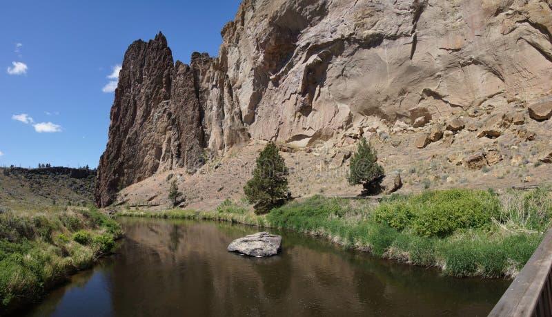 Panorama, plancher de vallée de la rivière tordue image libre de droits