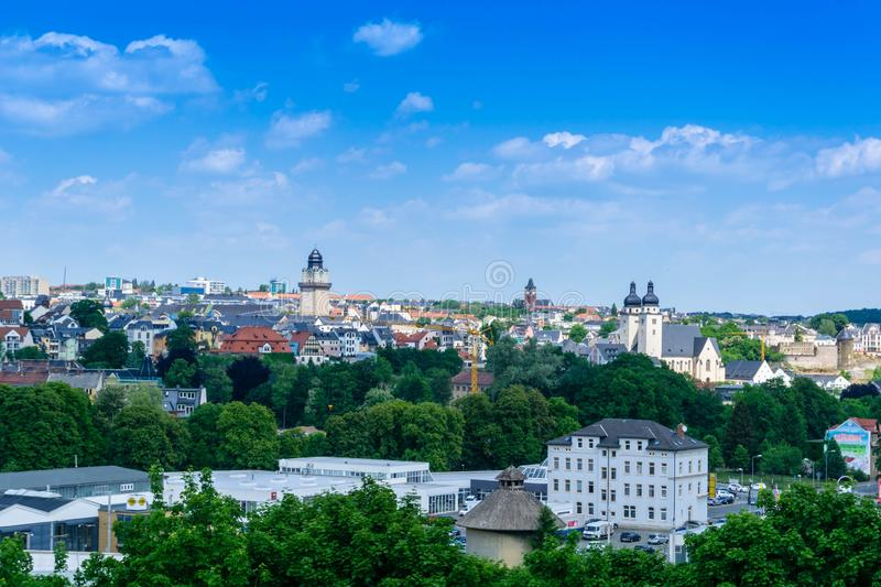 Panorama of plauen in vogtland saxony germany royalty free stock images