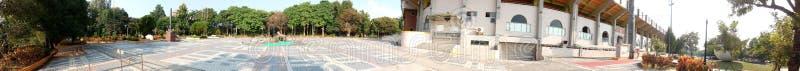 Panorama - plaza fuera del estadio de béisbol de la ciudad de Chiayi fotografía de archivo libre de regalías