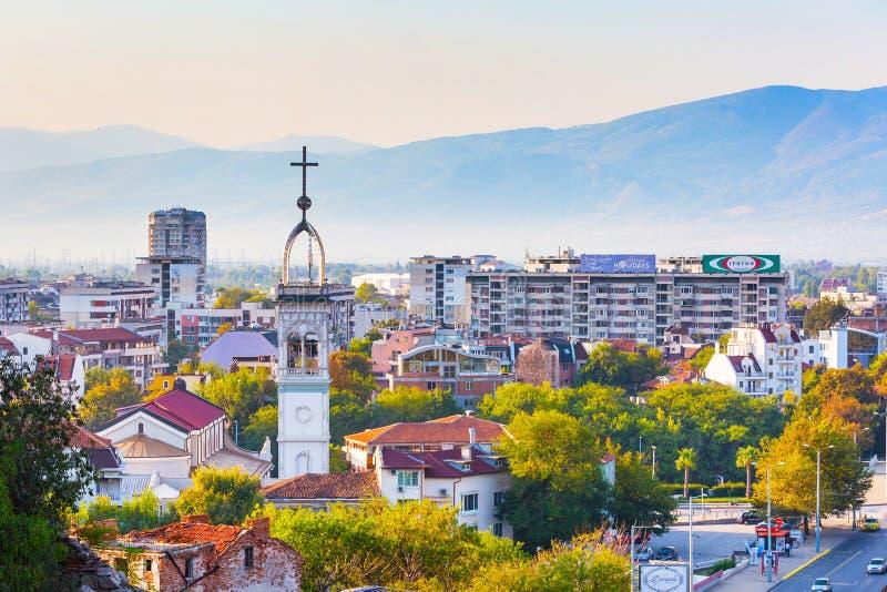 Panorama Plovdiv miasto, Bułgaria zdjęcia stock