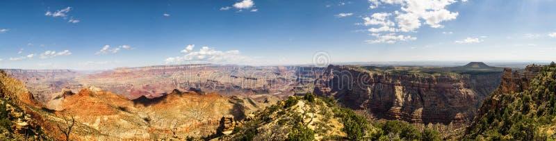 Panorama : Point de vue de désert de tour de guet - Grand Canyon, jante du sud - l'Arizona, AZ photos libres de droits
