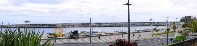 Panorama port w Funchal na wyspie madera zdjęcia stock
