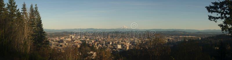 panorama portland arkivfoto