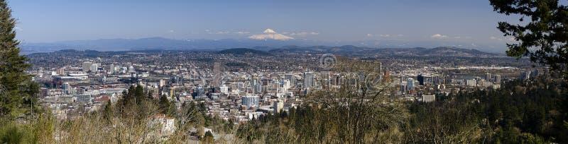 Panorama Portland-, Oregon lizenzfreie stockfotos