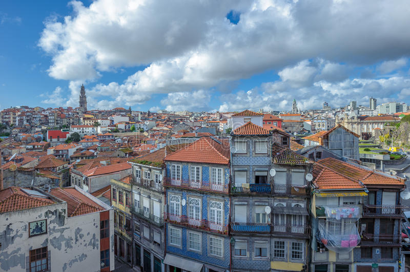 Panorama of Porto, Portugal stock images