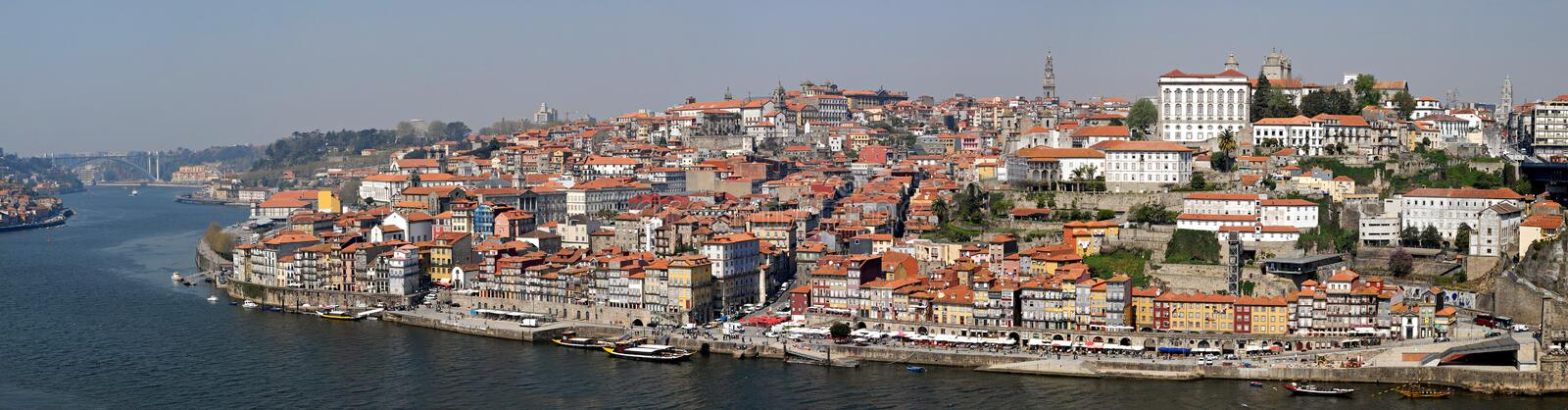 Panorama of Porto with river Duoro, Portugal. royalty free stock photography
