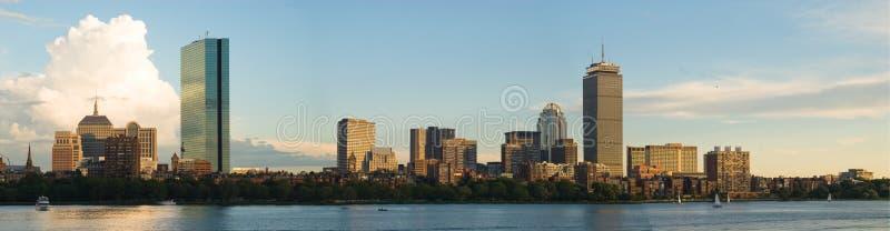 Panorama posterior de la bahía de Boston imágenes de archivo libres de regalías