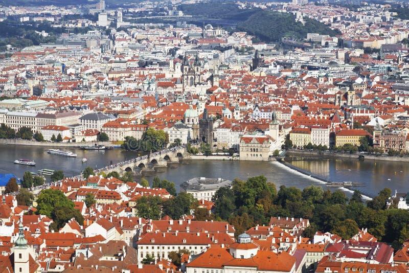 Panorama Praga fotografia stock