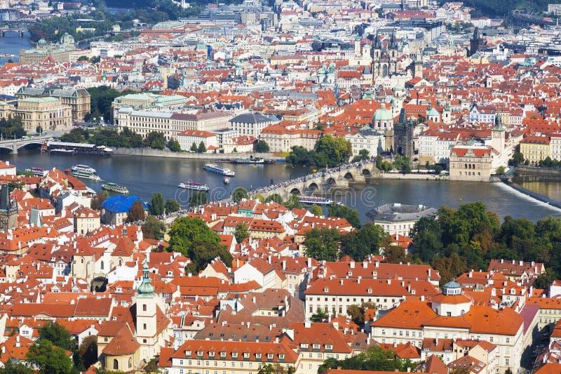 Panorama Praga zdjęcia stock