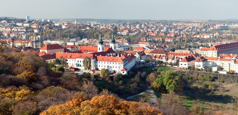 Panorama of Prague stock photo