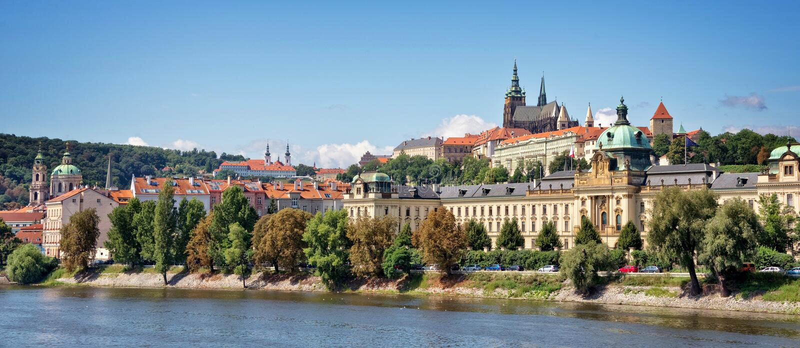 Download Panorama Of Prague Castle And The Vltava River, Czech Republic Stock Image - Image of landmark, panorama: 118776923