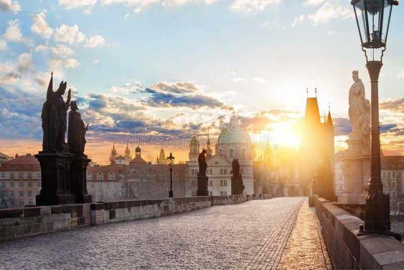 panorama Prague Charles most Karluv Najwięcej w Praga, republika czech obrazy royalty free