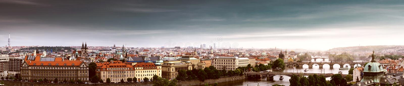 Prague, Czech Republic. Panorama of Prague, Czech Republic stock images