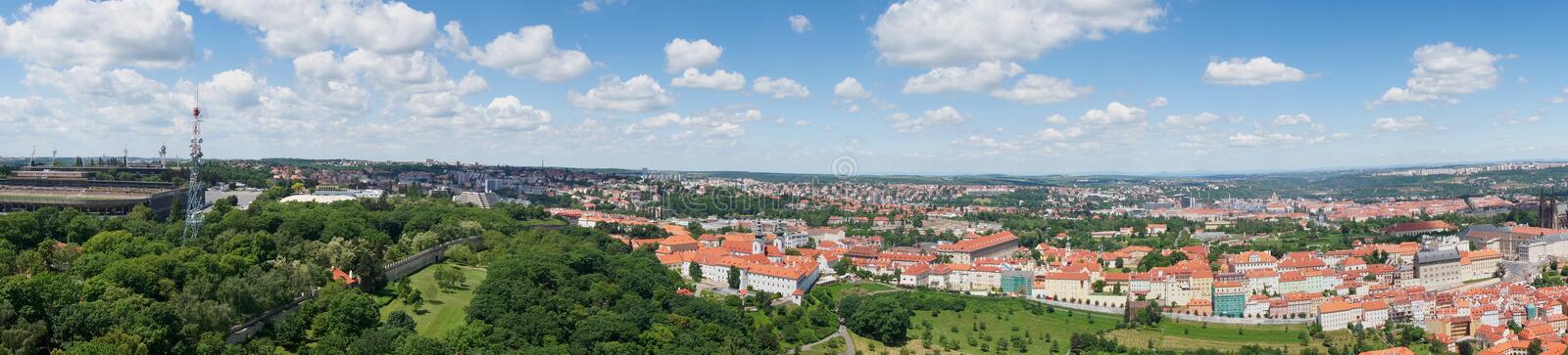 Panorama of Prague downtown stock image