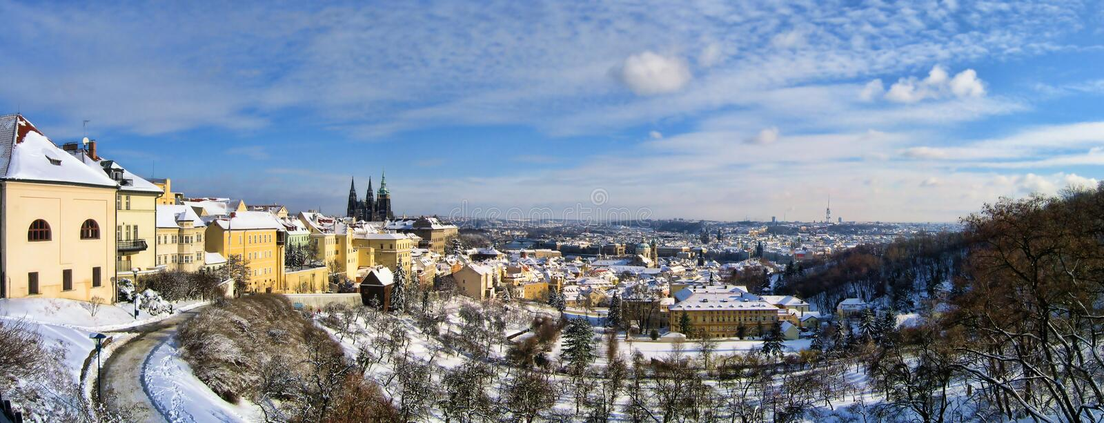 Download Panorama Of Prague In Winter Stock Photography - Image: 22665712
