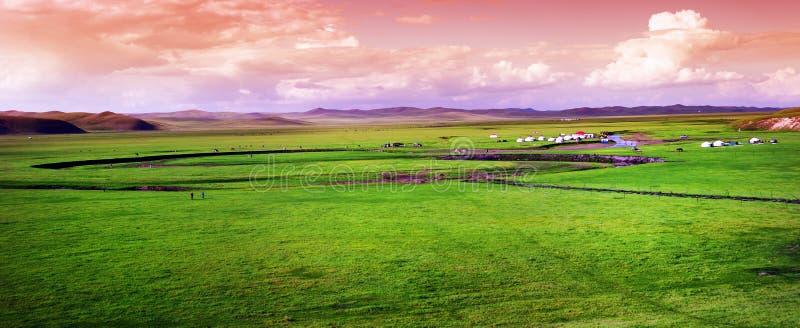 Panorama prairie landscape stock photos
