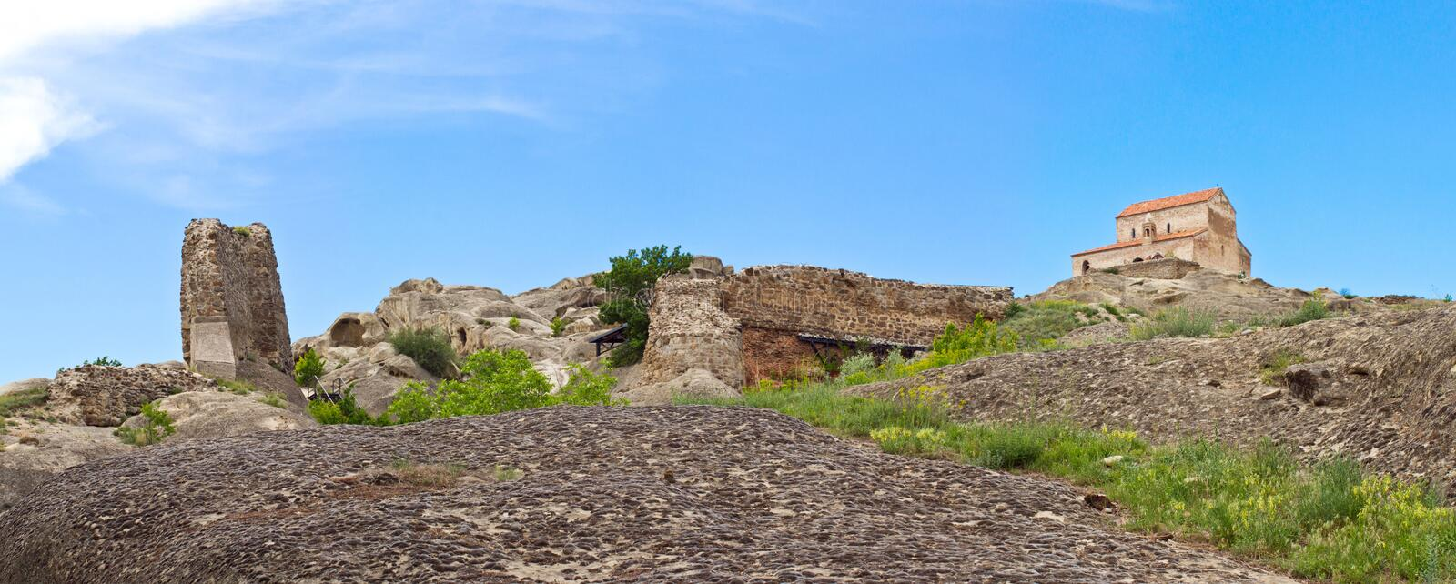 Download Panorama  Prehistoric Ruins Of Cave-dwelling Town Stock Photo - Image: 25048058