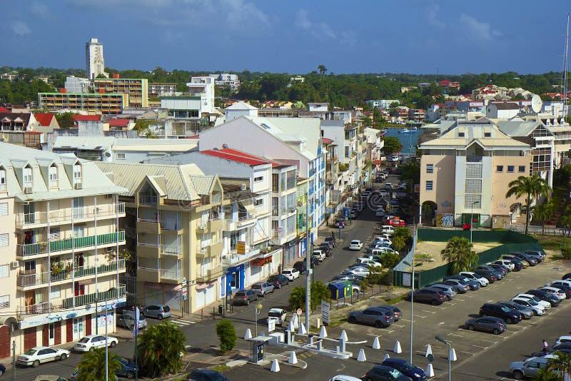 Panorama punkt Pitre - kapitał Guadeloupe, Karaiby obrazy royalty free