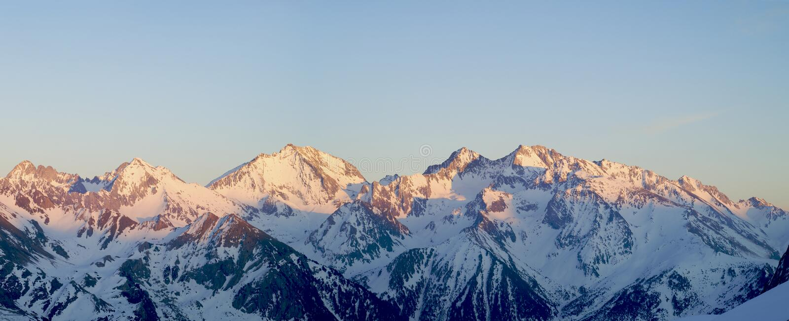 Download Panorama of the Pyrenees stock photo. Image of mountain - 11022364